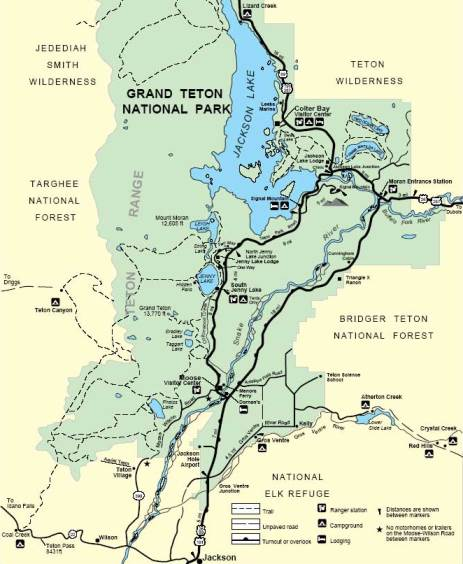 Grand Teton National Park Trail Map